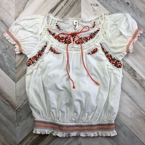 Anthropologie Floreat Bistrica BoHo Peasant Top 2
